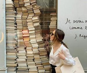 books, girl, and paris image