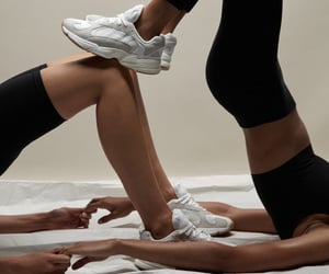 gymnastics, plastic, and sneakers image