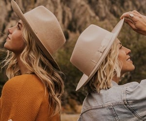 besties, girls, and hat image