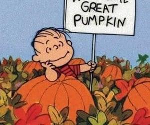 Great Pumpkin, Linus, and peanuts image