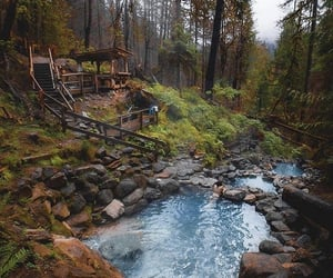 autumn, hot springs, and outdoors image
