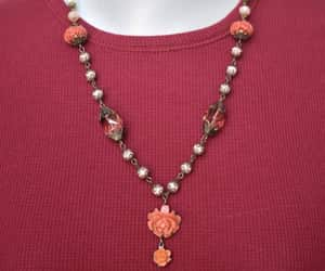 chain necklace, beaded chain, and 22 inch necklace image