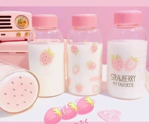aesthetic, baby pink, and beverages image