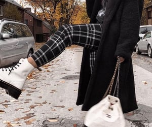 autumn, big coat, and black coat image