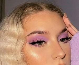 makeup, purple, and fashion image