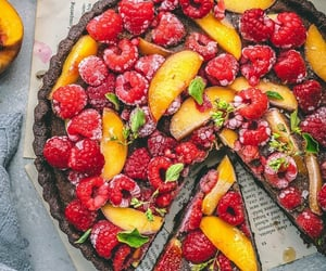 daisies, dessert, and fruit image