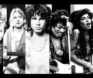 Amy Winehouse, jimmy hendrix, and kurt cobain image