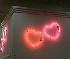 neon, light, and heart image