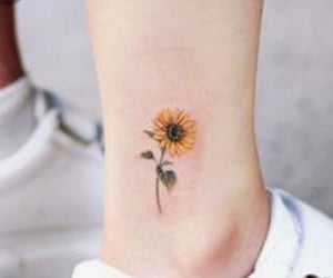 sunflower, Tattoos, and cute image