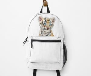 baby tiger, backpack, and nursery backpack image