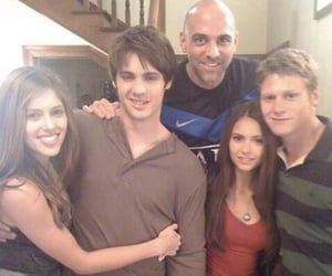 Nina Dobrev, Zach Roerig, and the vampire diaries image