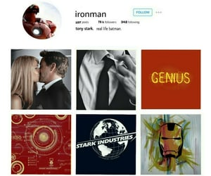 aesthetic, ironman, and red image