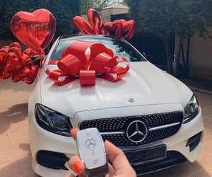 car, birthday, and gift image