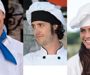 chef pants, chef jackets, and chef coats image