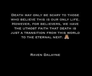 death, faith, and god image