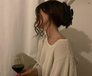 wine, girl, and style image