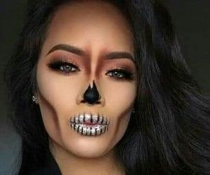 calavera, Halloween, and halloween make up image
