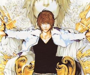 anime, death note, and light image