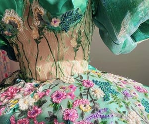 dress, garden, and fae image
