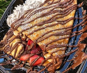 chocolat, crepes, and dessert image