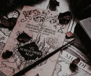 harry potter, autumn, and marauders map image