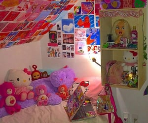 care bears, teletubbies, and hello kitty image