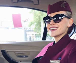 air hostess, Lufthansa, and moscow image