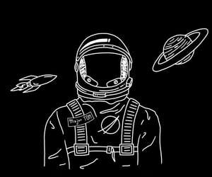 astronaut, nasa, and space image