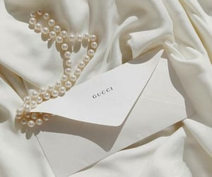 gucci, white, and brand image