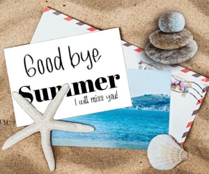 beach, good bye, and ocean image