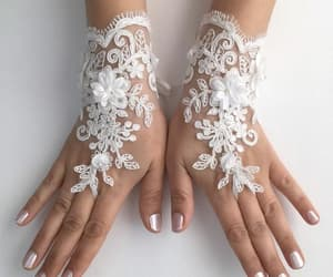 arm warmers, fingerless glove, and bridal glove image