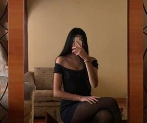 apple, black, and mood image