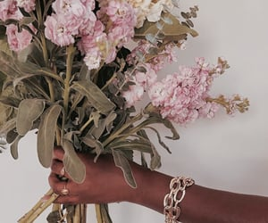 flowers, jewelry, and bouquet image