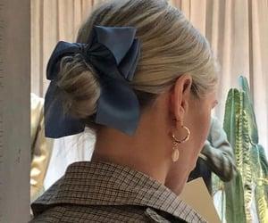 fashion, hair, and low bun image