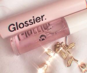 glossy, pink, and makeup image