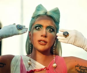 911, blue hair, and Lady gaga image