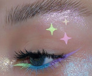 blue, eyeliner, and eyeshadow image