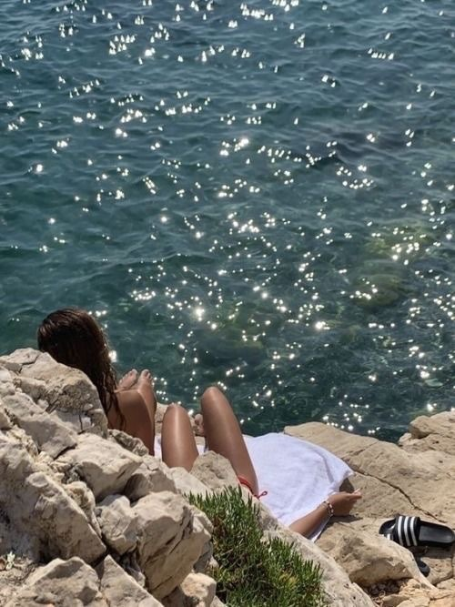 summer, girl, and sea image