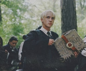 slytherin, draco malfoy, and harry potter image