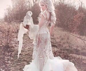 owl, fantasy, and white image