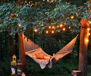 hammock, lights, and home image