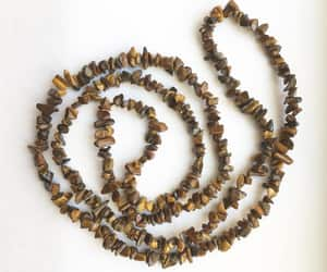 brown, artisan necklace, and etsy image