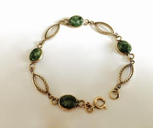 etsy, vintage jewelry, and green and gold image