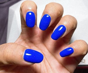 fingers, manicure, and blue image