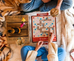 art, board game, and cosy image