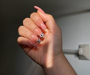 colorful nails, pink nails, and acrylic nails image