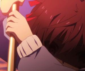 anime, anime girl, and dark image
