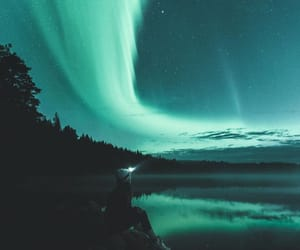 finland, night, and girl image