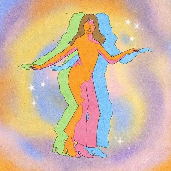 aesthetic, colorful, and hippie image