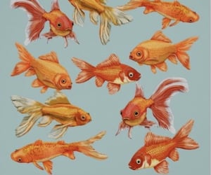 aesthetic, art, and gold fish image